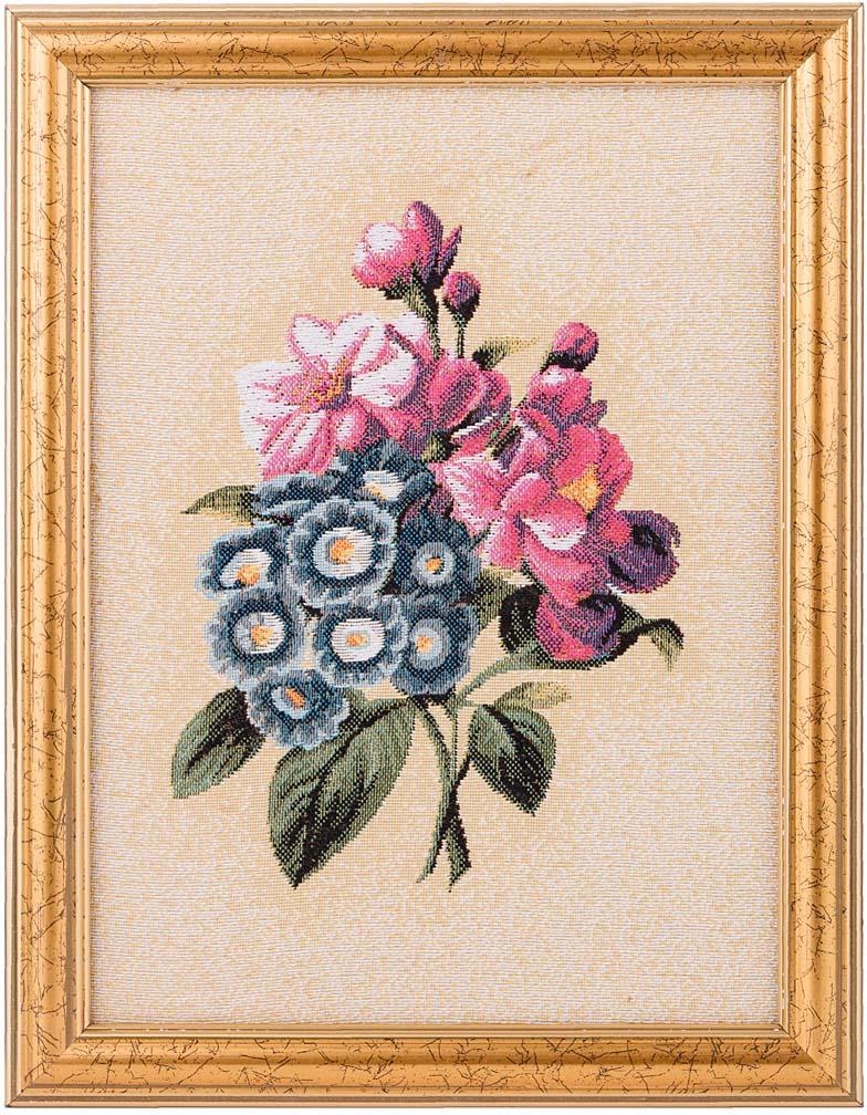 Гобелен Lefard Бутоньерка синие цветы, 404-820-17, 19 х 25 см404-820-17