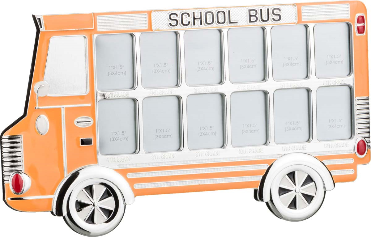Фоторамка Lefard Автобус, 363-509, на 12 фото, желтый, 29 х 1,5 х 16,7 см фоторамка коллаж lefard 596 200 56 х 42 х 2 см