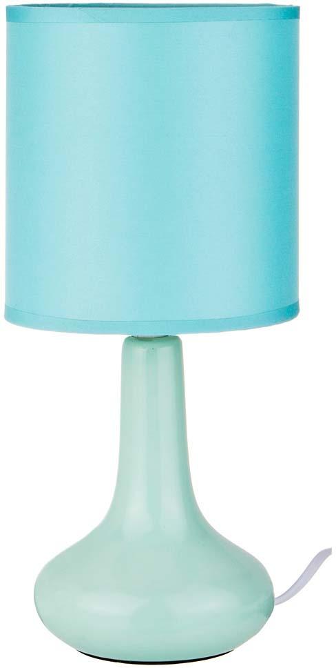 купить Светильник настольный Lefard, с абажуром, голубой по цене 680 рублей
