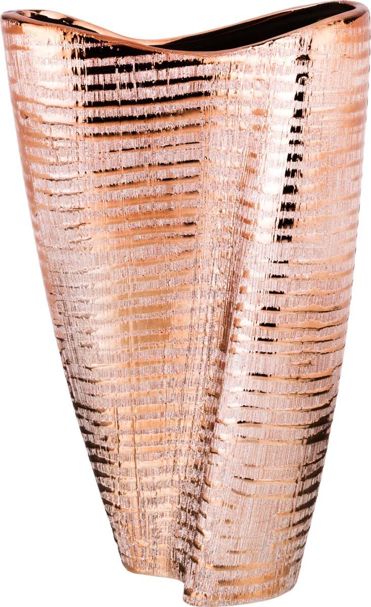 Ваза Lefard Блестящий шоколад, 138-228, 25 х 11 х 35 см ваза lefard подсолнух цвет коричневый 27 х 27 х 19 5 см