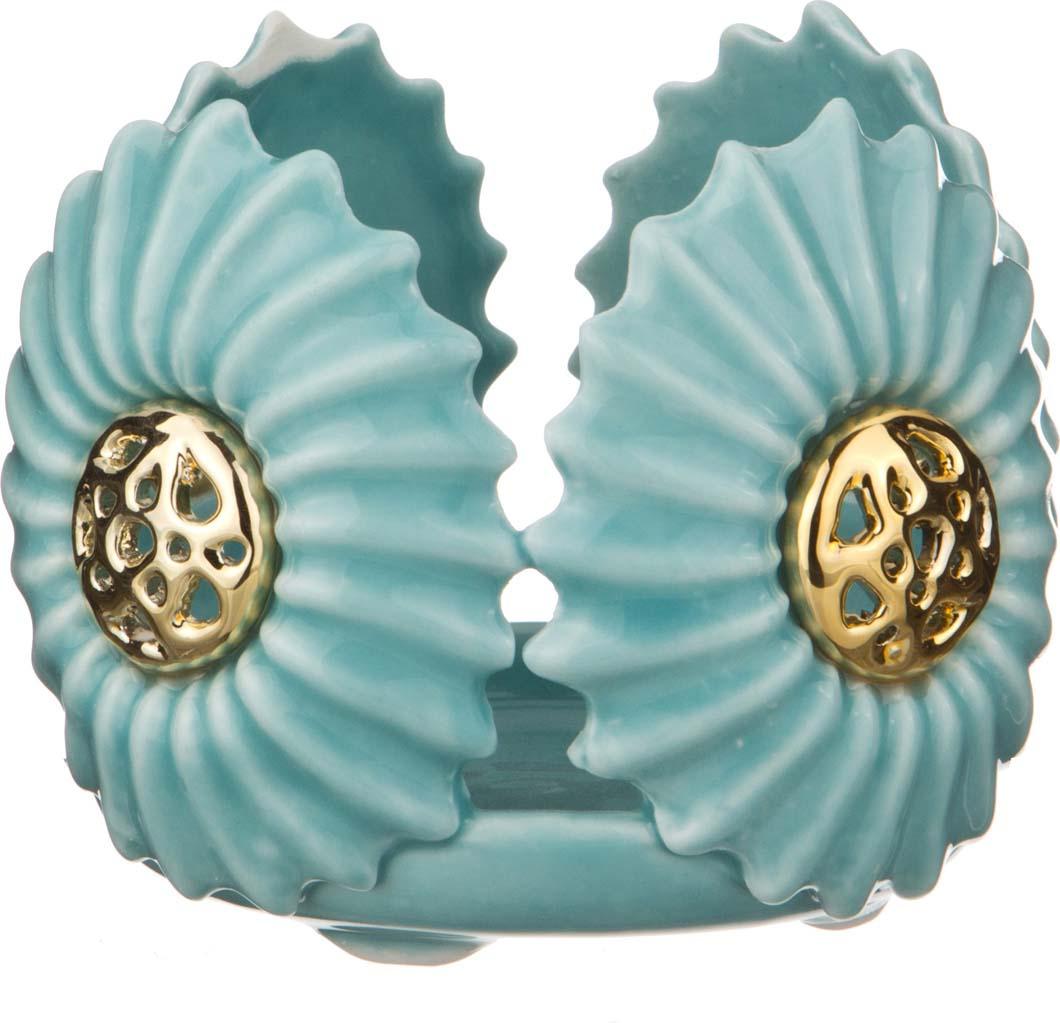 Подсвечник Lefard Морской бриз, 156-455, голубой, 9 х 9 х 8 см цена