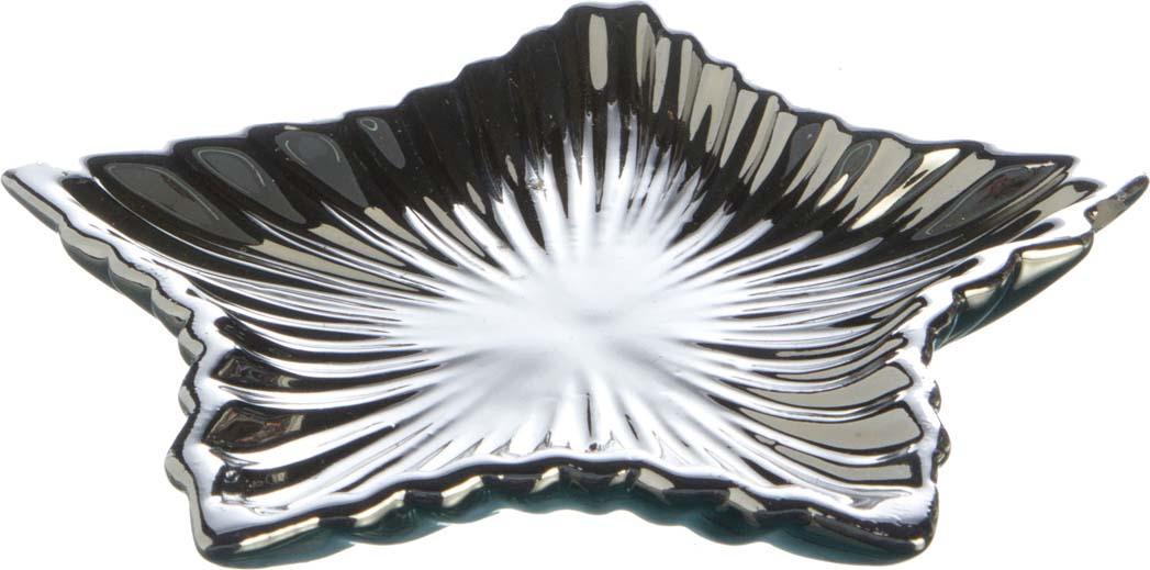 Украшение для интерьера Lefard Звезда, 156-524, серебристый, 15 х 15 х 2,5 см плантатор для цветов lefard птичка цвет разноцветный 20 5 х 15 х 31 см