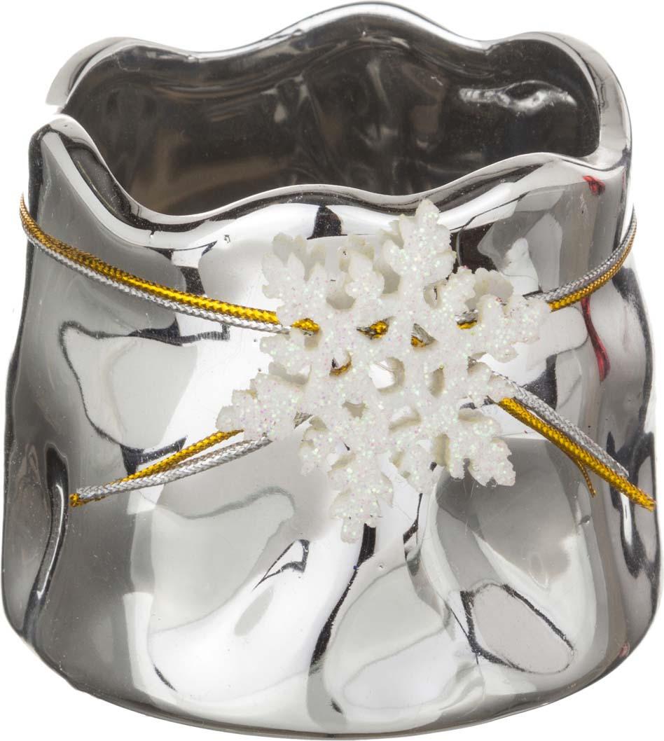 цена на Подсвечник Lefard, цвет: серебристый, 8,5 х 8,5 х 7 см