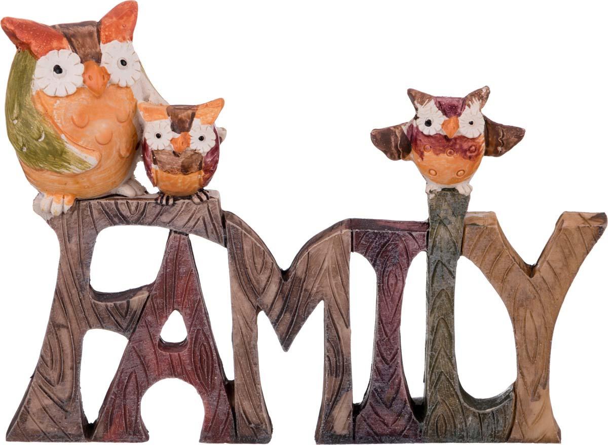 Фигурка декоративная Lefard Family, 162-333, коричневый, 13,5 х 3 х 10 см фигурка декоративная lefard йога кот 162 315 5 х 5 х 10 см