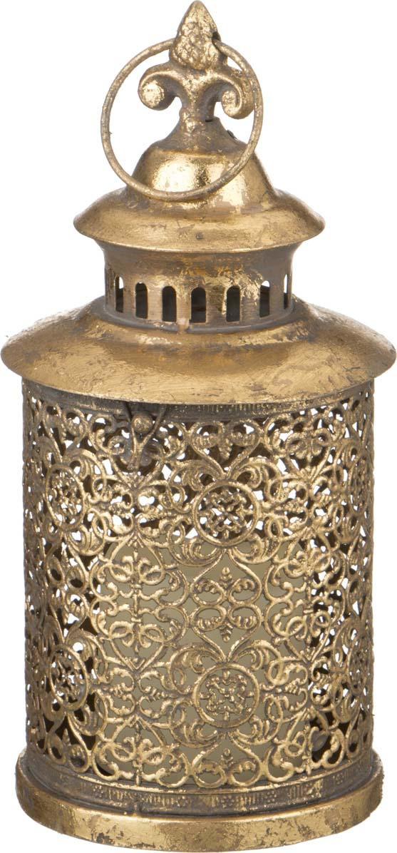 Подсвечник Lefard, со светодиодом, цвет: бронзовый, 14 х 14 х 29,5 см