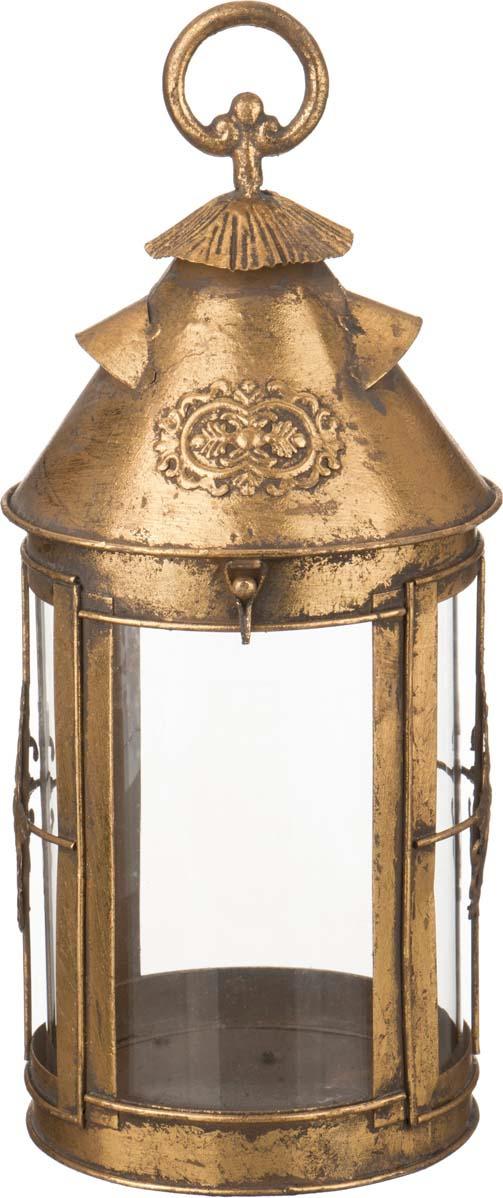 Подсвечник Lefard, 223-019, золотой, 17,5 х 17,5 х 39 см