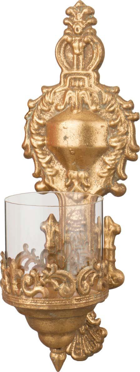 Подсвечник Lefard, 223-031, настенный, бронза, 13 х 14 х 38 см