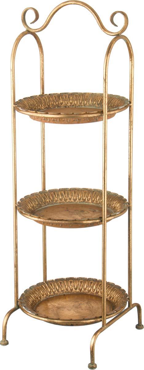 Этажерка Lefard, 223-045, коричневый, 28.5 х 28.5 х 88 см этажерка зми ладья 2 3 ярусная цвет черный 44 х 25 х 69 5 см