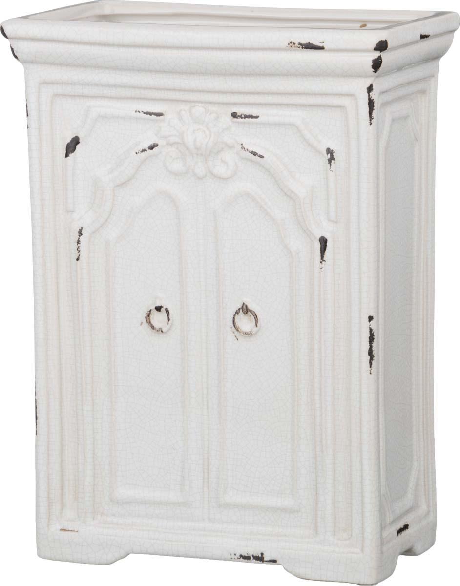 """Кашпо Lefard """"Старинный шкаф"""", 232-175, белый, 18 х 11,5 х 24,5 см"""