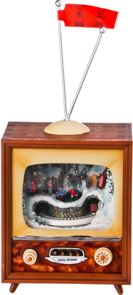 """Фигурка декоративная Lefard """"Телевизор"""", 234-143, коричневый, 11,5 х 9,5 х 14 см"""