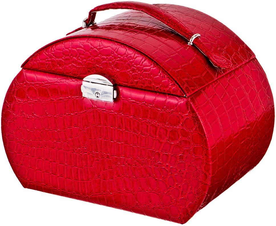 цена на Шкатулка для украшений Lefard, 362-105, красный, 23 х 16 х 17 см