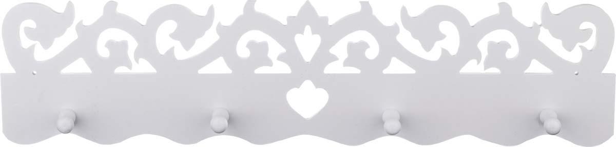 Вешалка настенная Lefard, 460-118, белый, 50 х 12 см цена в Москве и Питере