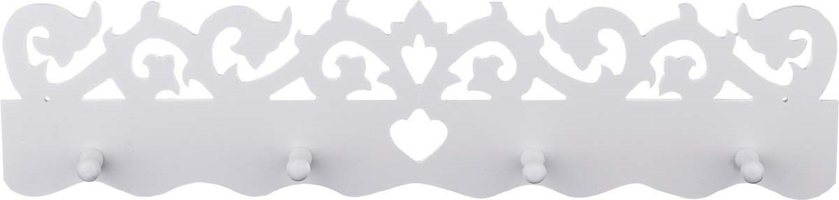 Вешалка настенная Lefard, 460-118, белый, 50 х 12 см цена