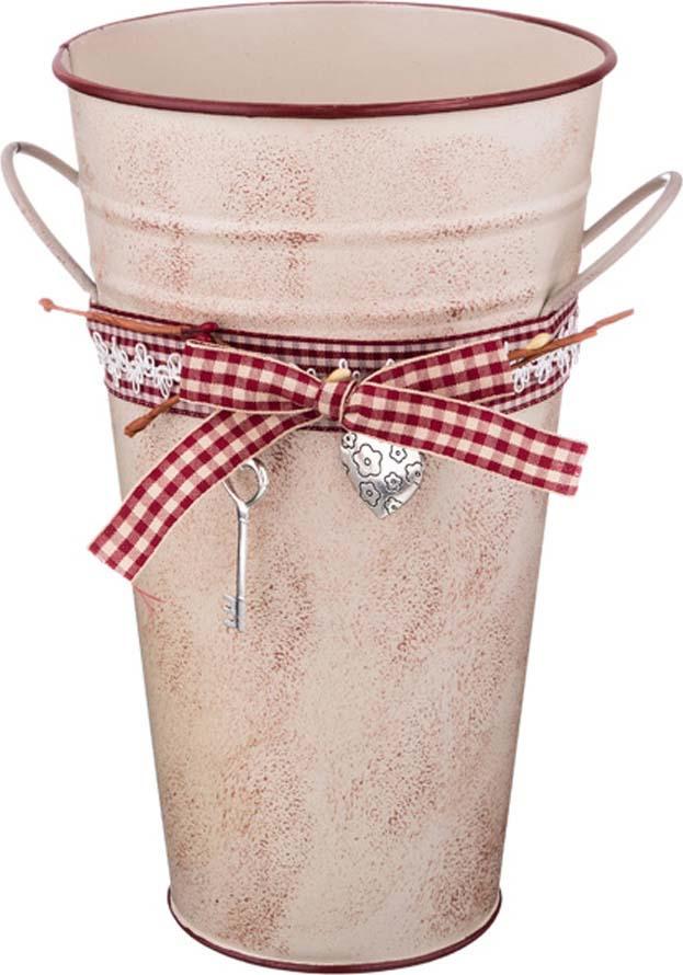 Кашпо-вазон Lefard Key, 736-511, с ручками, розовый, 15 х 25,5 х 10 см