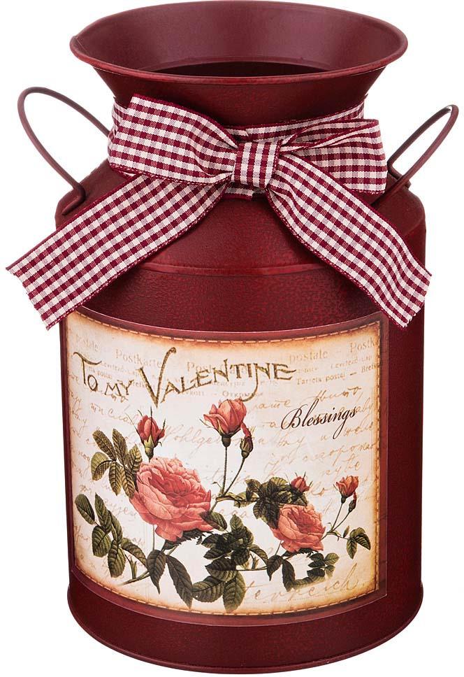 Кашпо-вазон Lefard Valentine, 736-533, с ручками, коричневый, 21,5 х 12 см