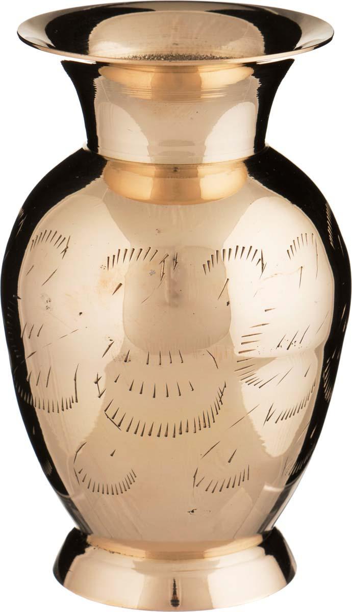 Ваза Arti-M, 882-055, золотой, высота 13 см цена
