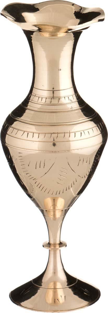 Ваза Arti-M, 882-057, золотой, высота 15 см