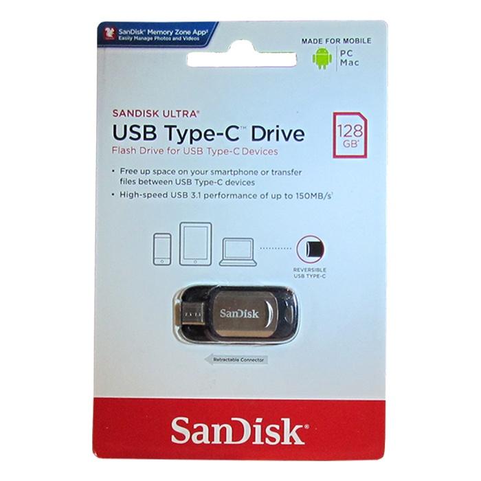 USB Флеш-накопитель SanDisk Ultra Z450 128GB USB Type-C sandisk ultra type c 16gb black silver usb накопитель