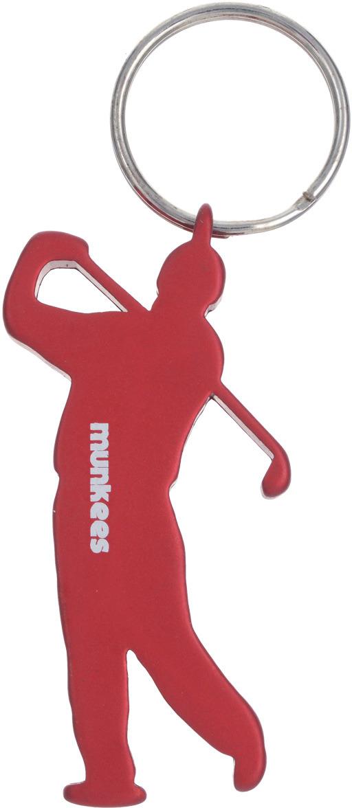Брелок-открывалка Munkees Гольфист, цвет: красный брелок открывалка munkees стандартная цвет желтый