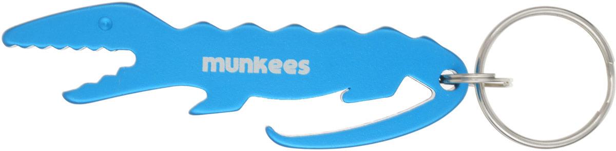 Брелок-открывалка Munkees Крокодил, цвет: синий3485Брелок Открывалка-Крокодил.С виду это обычный, пусть даже и красивый брелок в виде крокодила. И полагаем, это отличный подарок для любителей этого хищника. Но, на деле, в этом брелоке скрыта очень удобная открывалка для напитков в стеклянных бутылках!А главное, брелок выполнен из анодированного алюминия - это легкий вес и надежное качество, включая особенную цветную поверхность, которая намертво фиксирована на поверхности алюминия, путем электрохимического оксидирования! Одним словом, невероятная износостойкость поверхности изделия, даже при жестком и длительном контакте с ключами на связке.MUNKEES® - FUN & FUNCTION*THE ORIGINAL** - Гарантия качества оригинальных MUNKEES!* Весело и функционально.** Оригинальный продукт.