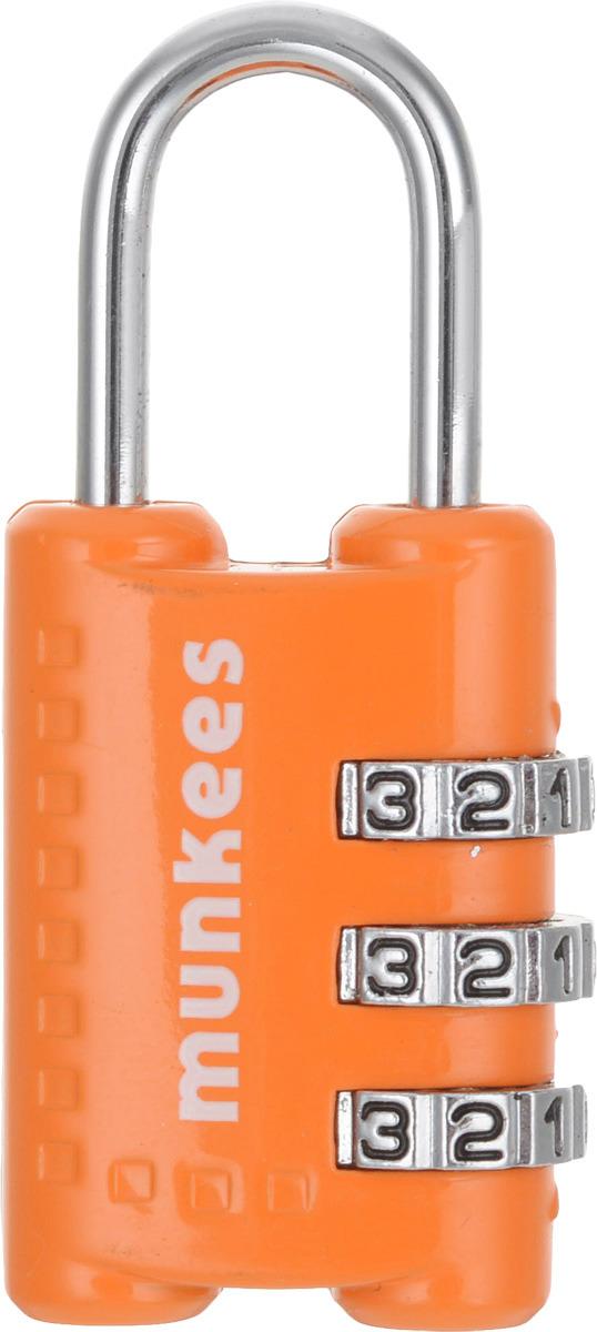 Брелок-замок Munkees, кодовый, цвет: оранжевый
