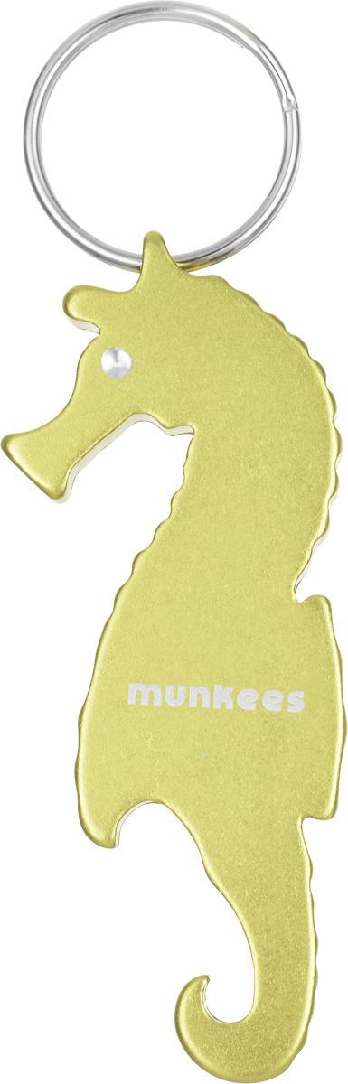 Брелок-открывалка Munkees Морской конек, цвет: желтый брелок открывалка munkees стандартная цвет желтый