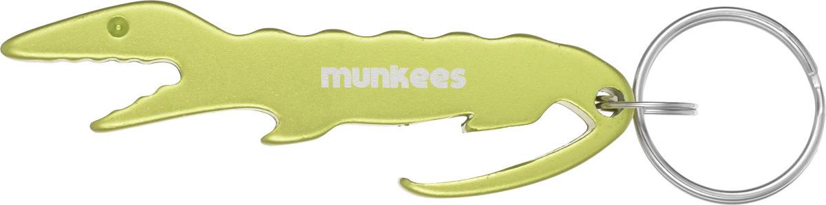 Брелок-открывалка Munkees Крокодил, цвет: желтый брелок открывалка munkees стандартная цвет желтый