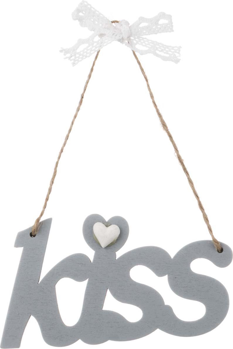 цена на Украшение для интерьера Arti-M Kiss, 206-134, серебристый, длина 12 см