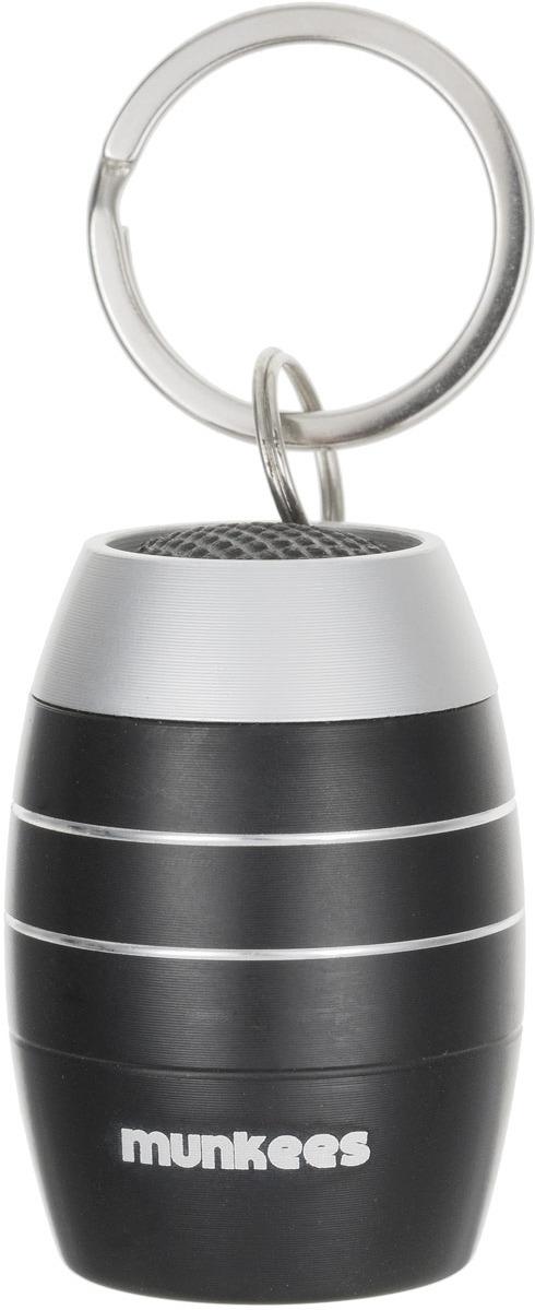 Брелок-фонарик Munkees Бочка, светодиодный, цвет: черный