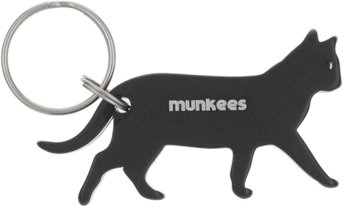 Брелок-открывалка Munkees Кошка, цвет: черный брелок открывалка munkees стандартная цвет желтый