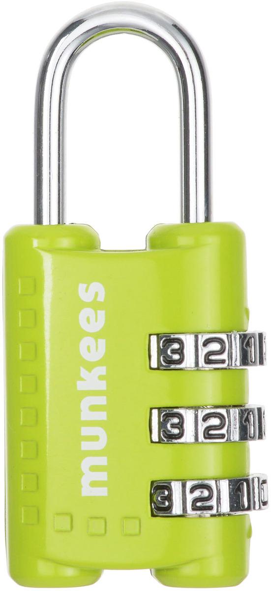 Брелок-замок Munkees, кодовый, цвет: зеленый