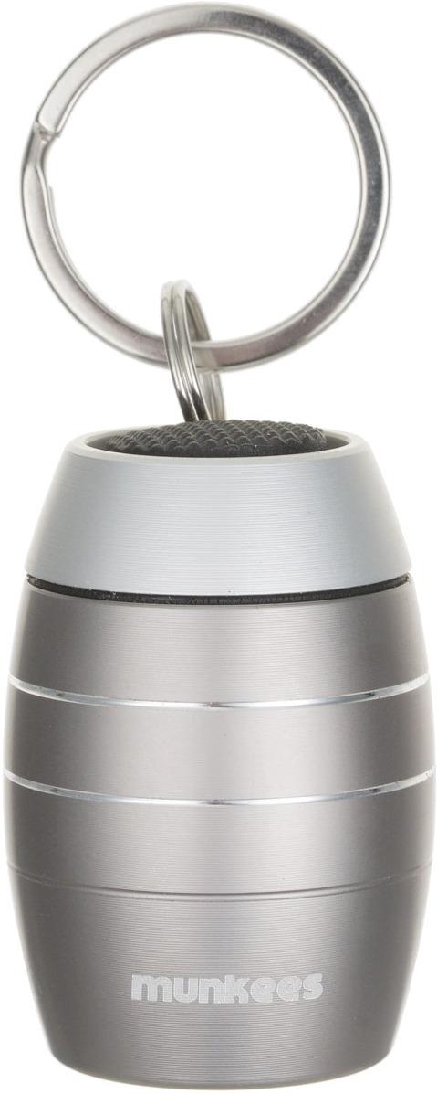Брелок-фонарик Munkees Бочка, светодиодный, цвет: серый