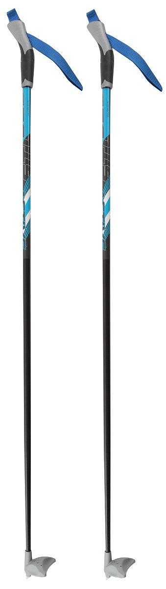 Палки лыжные STC X400, черный, синий, 110 см цена