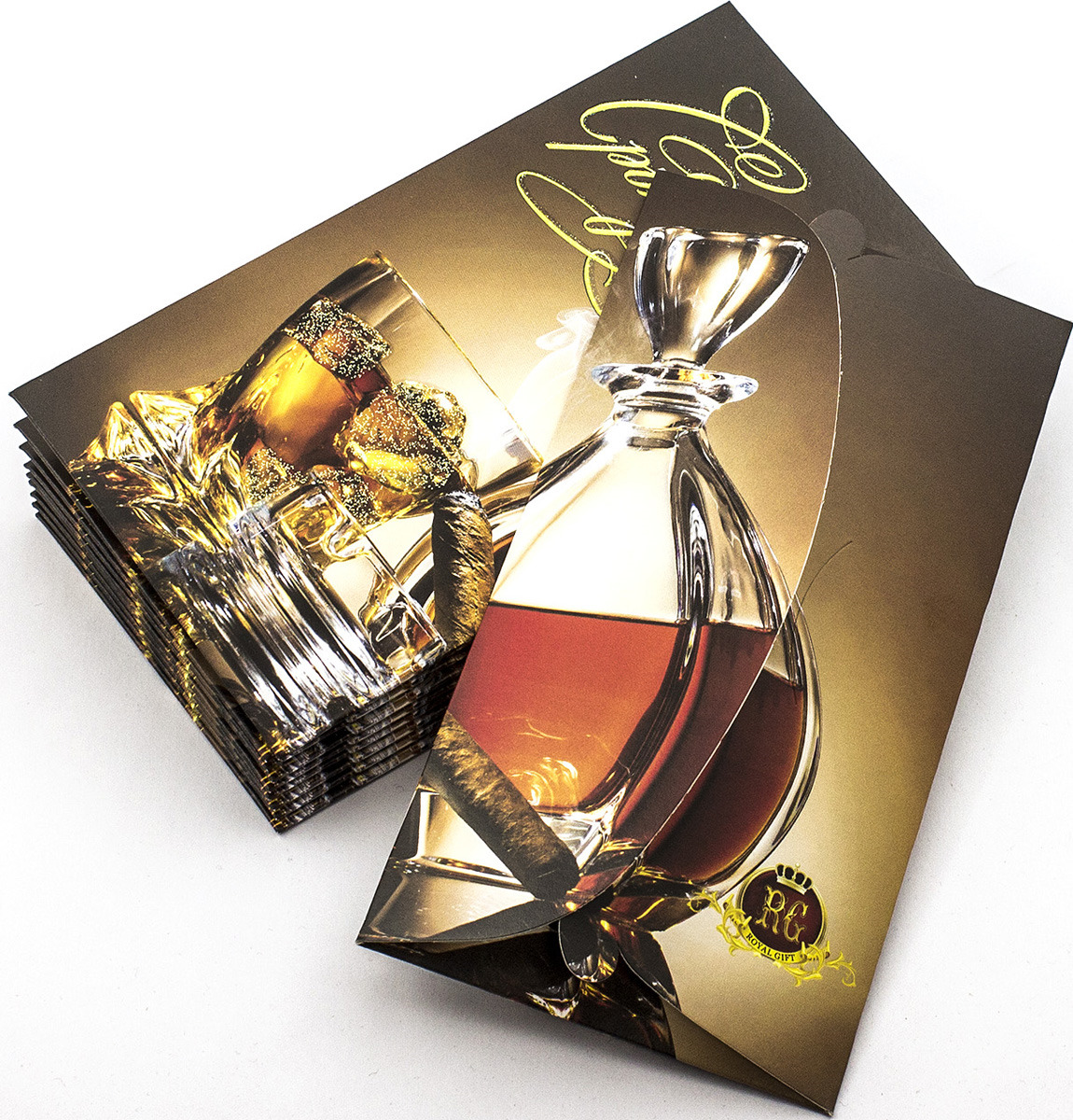 Подарочная упаковка праздничная Эврика Конверт Поздравительный №10 Виски, 99087, 10 шт