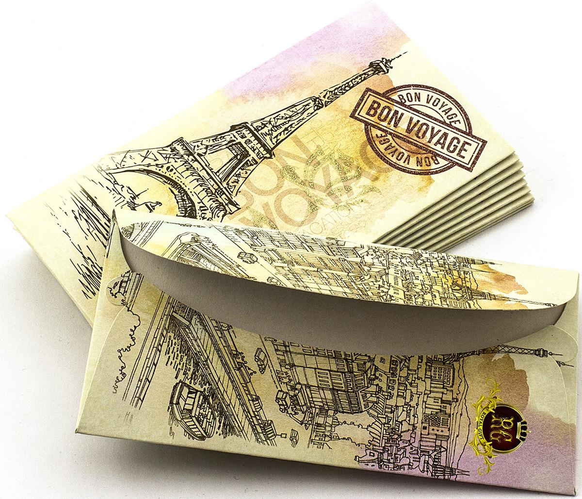 Подарочная упаковка праздничная Эврика Конверт Поздравительный №13 Эйфель, 99090, 10 шт