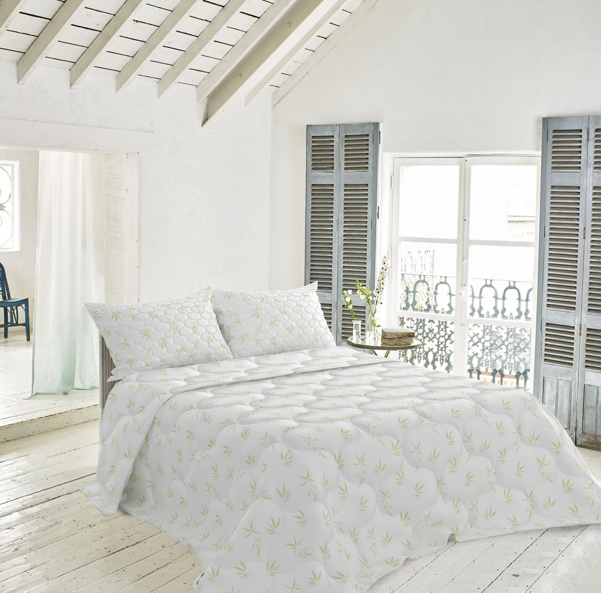 """Одеяло Волшебная ночь """"Бамбук"""", белый, 172 х 205 см"""