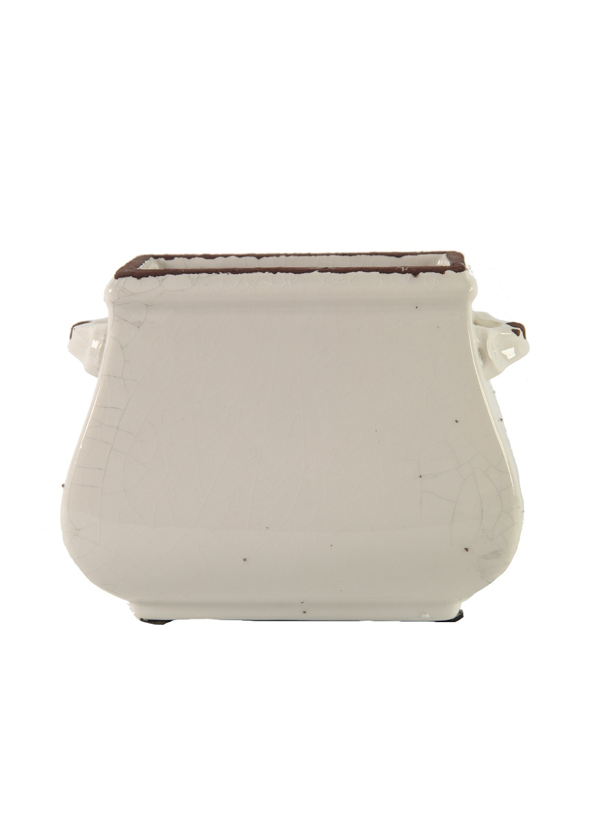 Кашпо/горшок RICH LINE Home Decor Молочный-17, 749565-1, бежевый цена