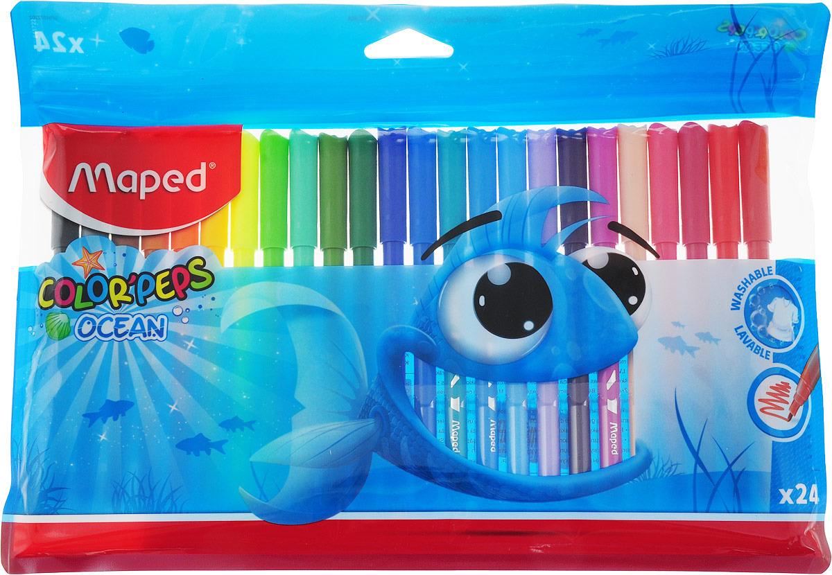 Набор фломастеров Color Pep's смываемые 24 шт