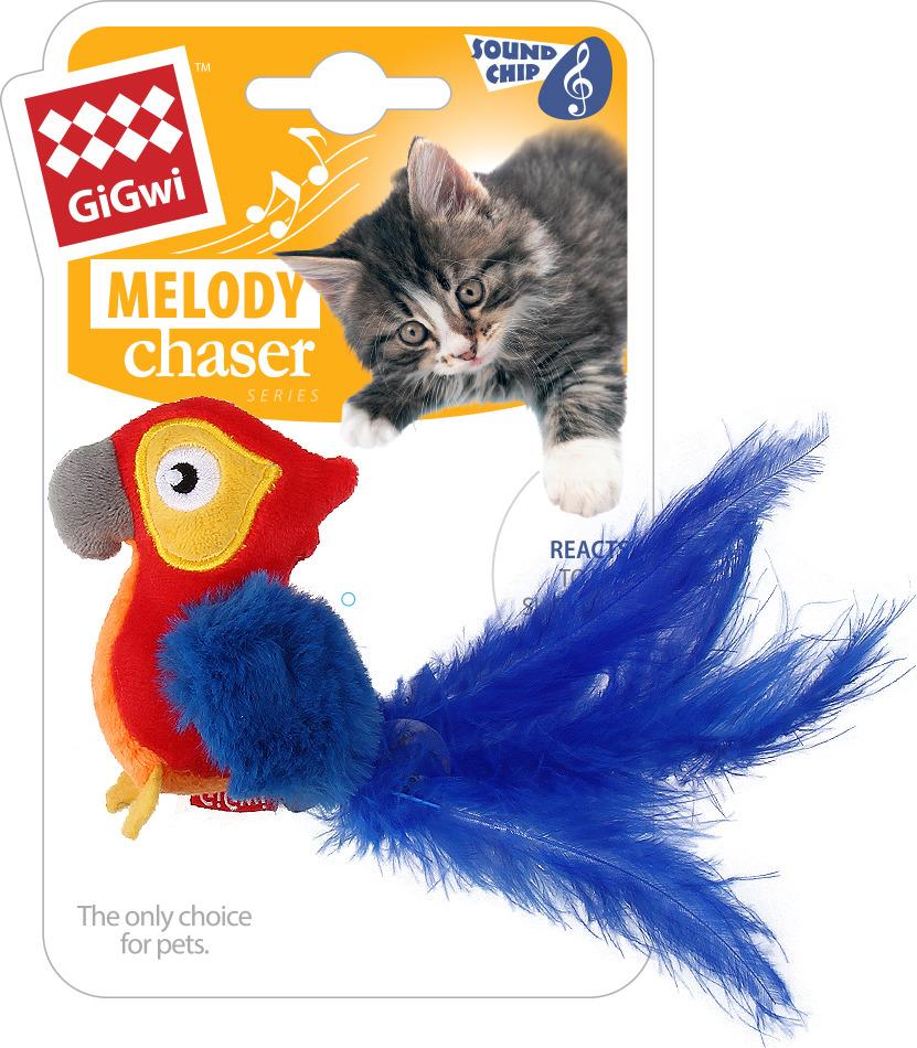 купить Игрушка для животных GiGwi Попугай со звуковым чипом, 75459 по цене 361 рублей