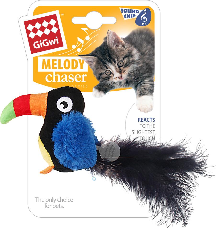 купить Игрушка для животных GiGwi Тукан со звуковым чипом, 75463 по цене 339 рублей