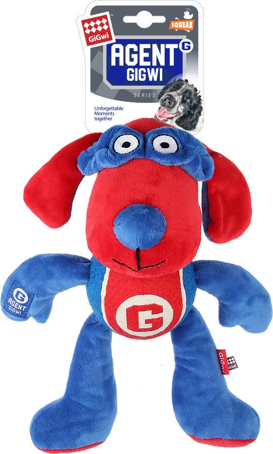 Игрушка для животных GiGwi Собака с пищалкой и теннисным мячом, 75465