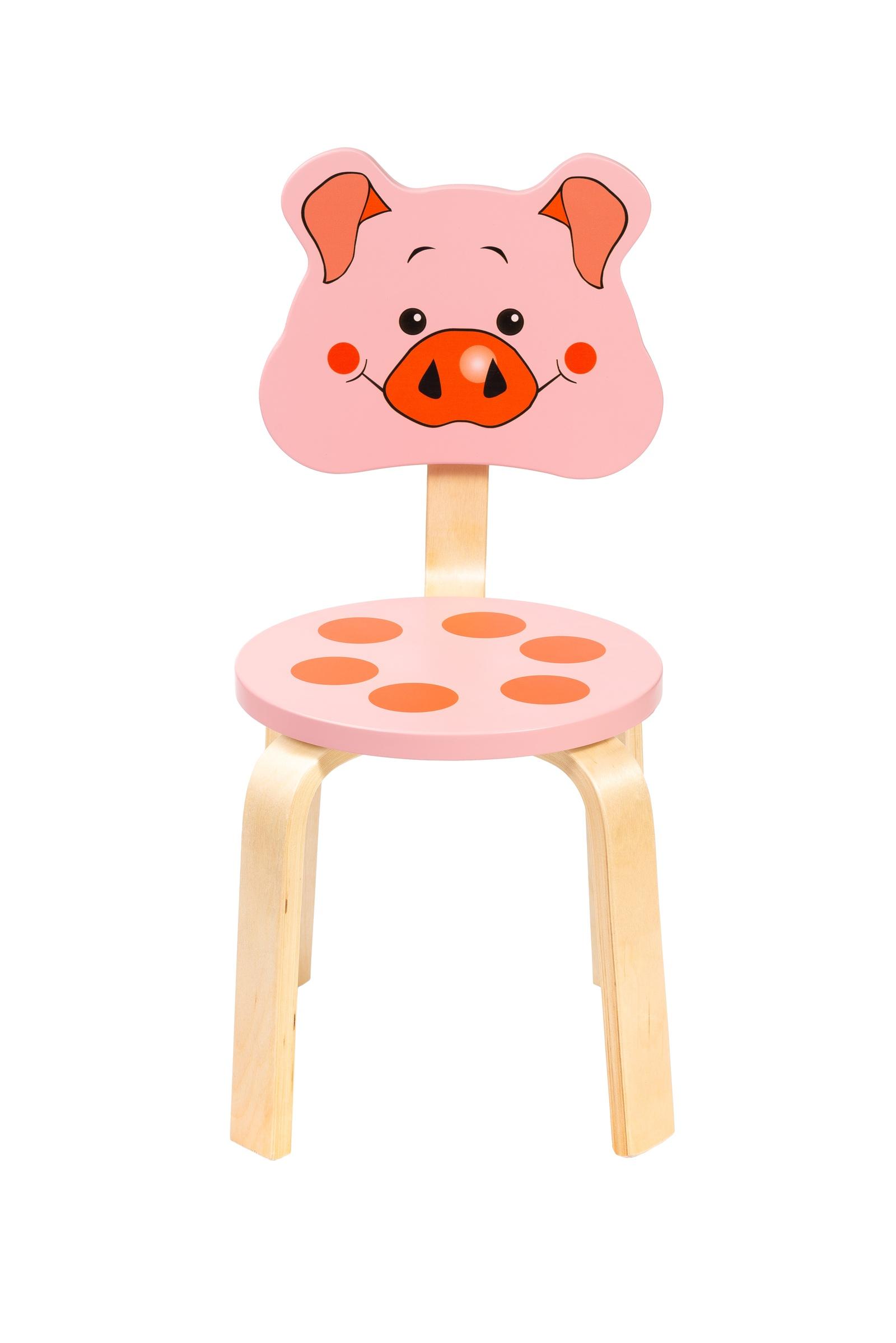 Детский стул Polli Tolli Мордочка.Поросенок,32571