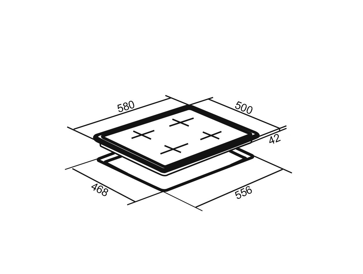 Газовая варочная поверхность ORE LGA60 ORE