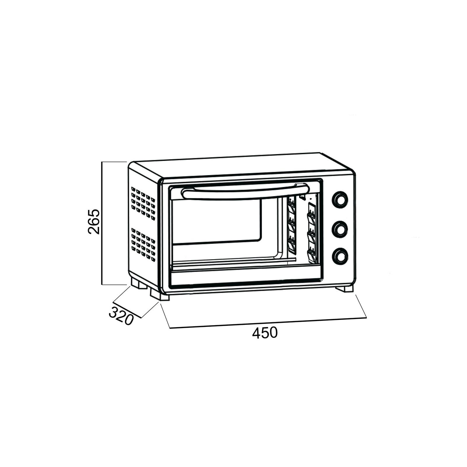 Электропечь ORE VAT20, цвет: белый, 20л. ORE