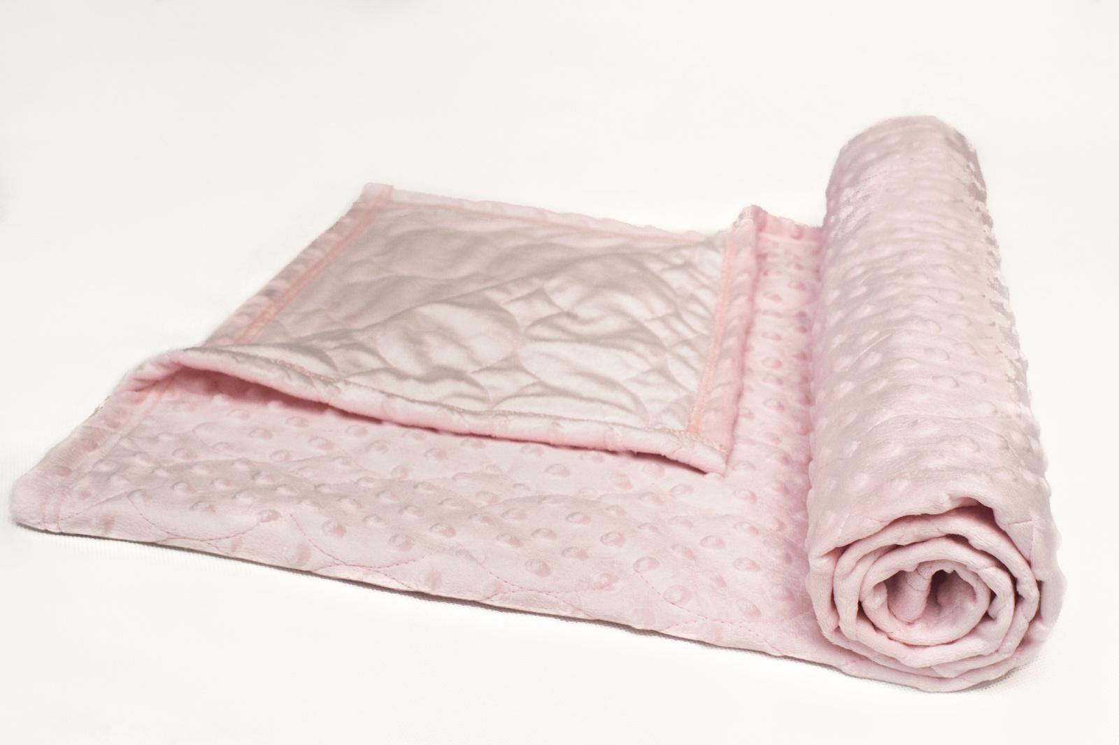 Детский плед Чудо Чадо я227-2-мех Плед детский розовый 86*111, Искусственный мех