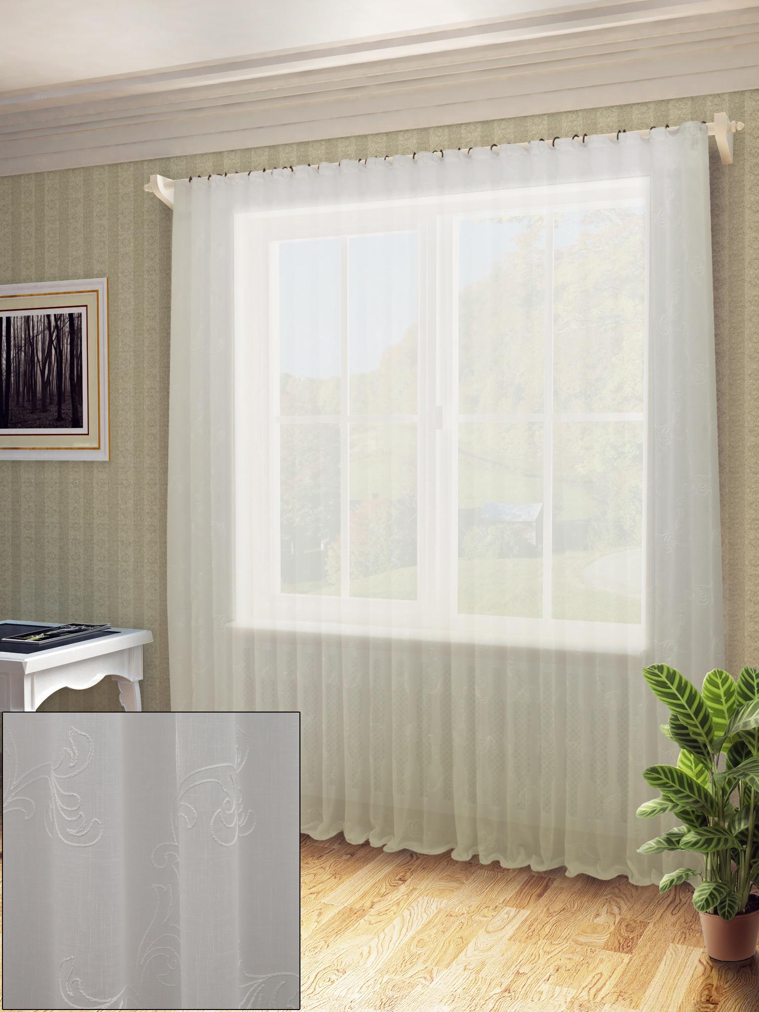 Тюль Sanpa Home Collection ДОРА, HP48641/A1/1E ДОРА, белый, белый, (300*260) тюль sanpa home collection альбертина hp18520 120 1e альбертина белый белый 300 120