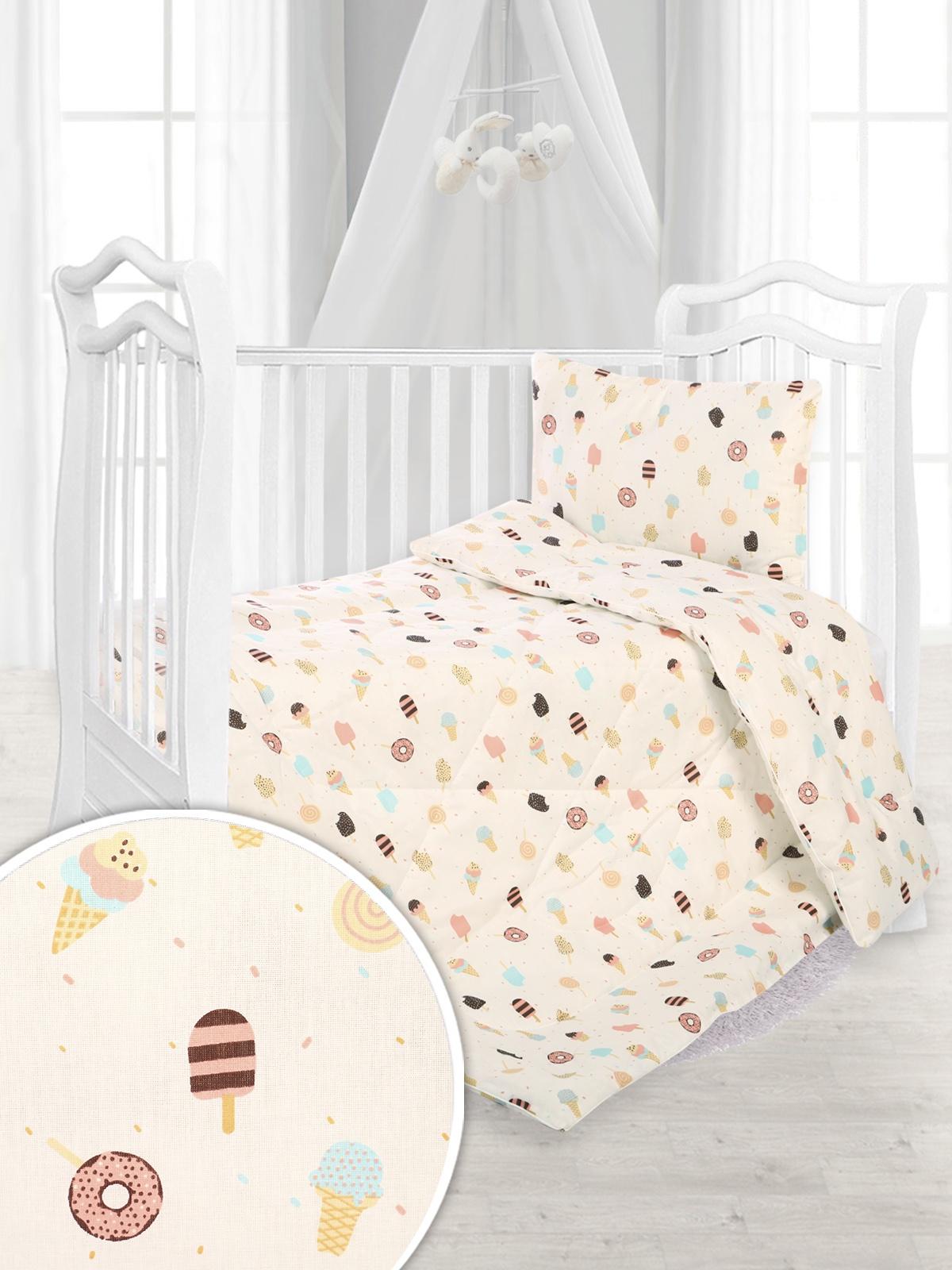 """Одеяло детское Спаленка Одеяло детское Нежный сон, 110*140 эскимо, О-Д-НежСон-110х140/эскимоО-Д-НежСон-110х140/эскимоЛюбовь и нежность! Это обязательное условие для жизни наших детей. Как выбрать одеяло в детскую кроватку?- важный вопрос в жизни каждой семьи. Одеяло """"Нежный сон"""" имеет стандартный размер 110х140,оно легкое и воздушное, создает комфорт и сказочный уют для спокойного сна вашего малыша. Теплота и мягкость сочетаются с высоким качеством наполнителя(плотность 200 г/м2), чехла и пошива. Бамбуковое волокно и аналог лебяжьего пуха-это идеальный баланс упругости и мягкости, легкость, воздухопроницаемость, гипоаллергенность, простота в уходе. Ткань чехла-поплин-100% хлопок. Не смотря на свою тонкость и нежную мягкость, что важно для здоровья детей, он прочен и долговечен, что удобно для мам. Мы заботимся о вашей семье и желаем вам приятных снов!"""