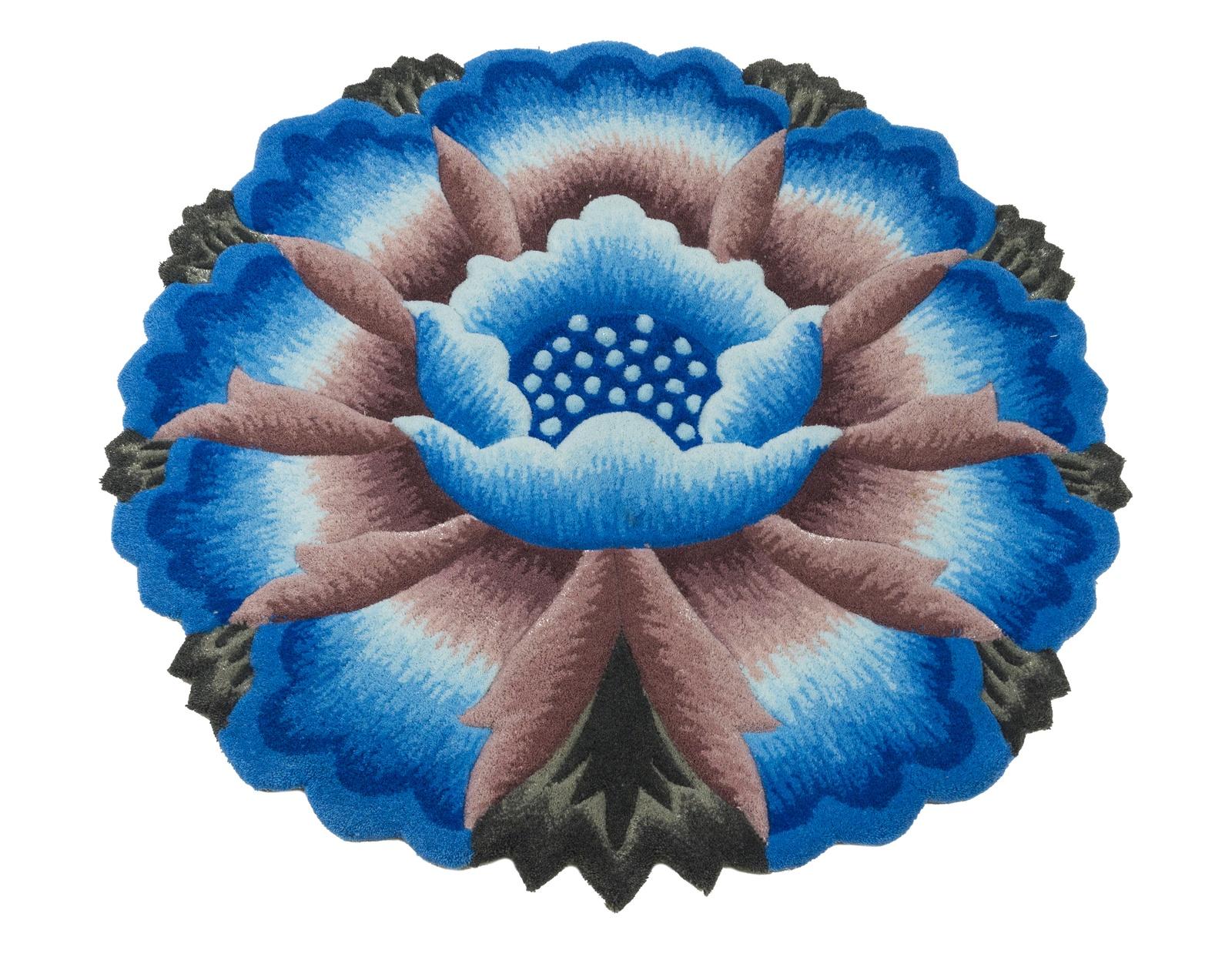 Ковер MADONNA 1,2х1,2 м /фигурный, синий