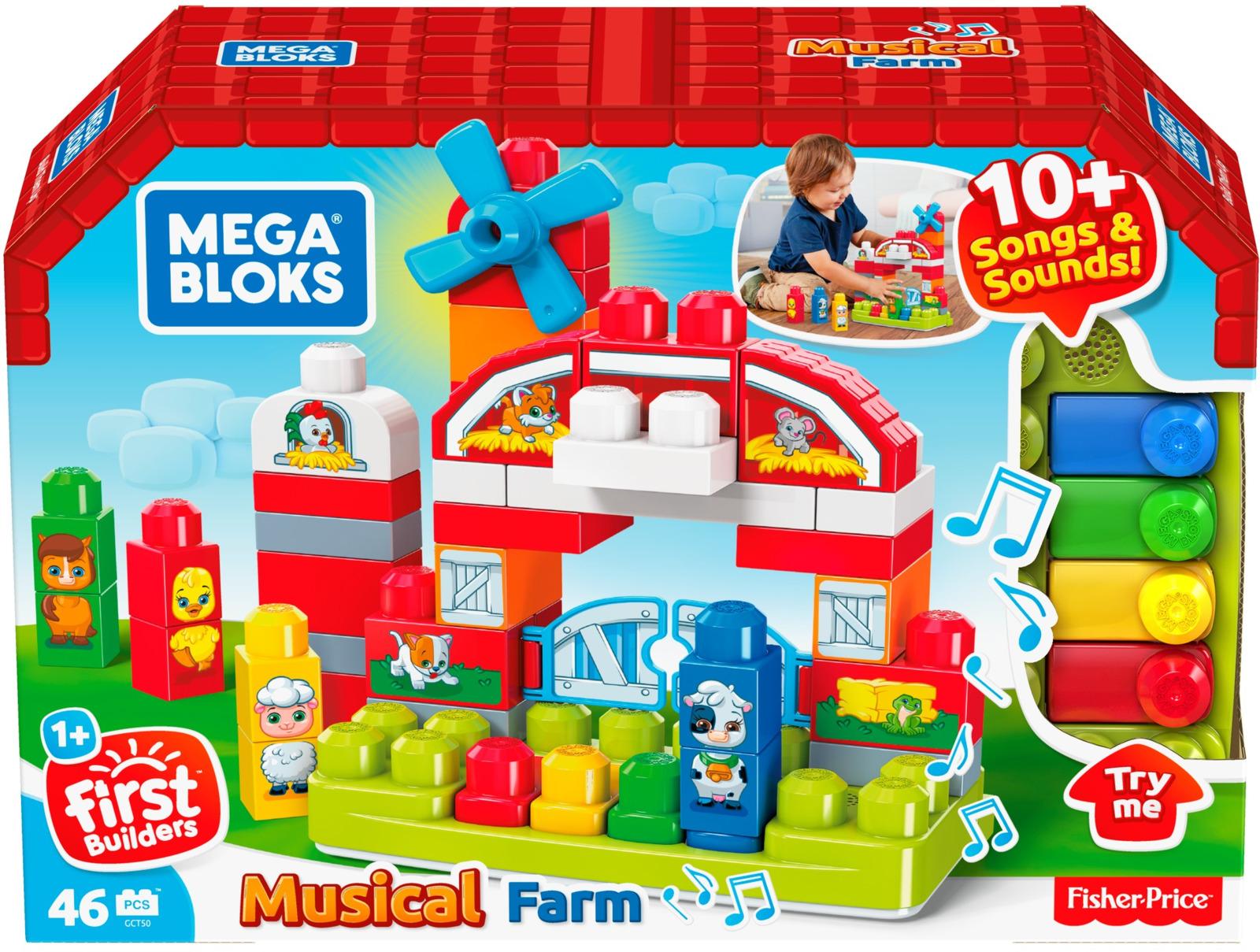 "Пластиковый конструктор Mega Bloks ""Музыкальная ферма"""