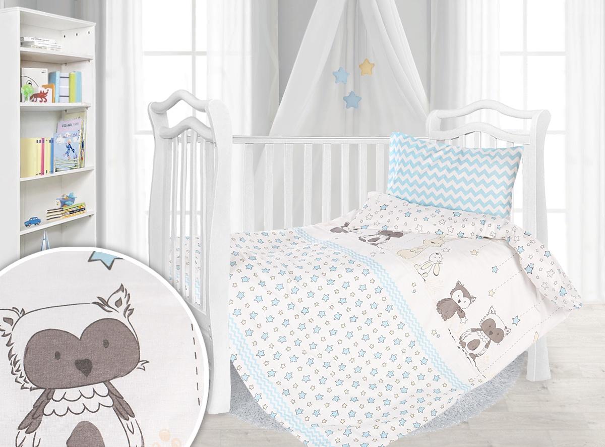 Комплект в кроватку Спаленка Комплект постельного белья в кроватку Лесные друзья, КПБ-Б2-110х140/лес.друзья-г
